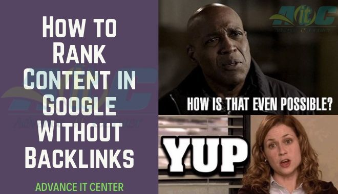 Rank Content in Google Without Backlinks